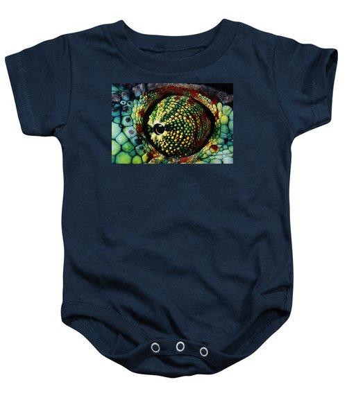 Panther Chameleon Eye Baby Onesie