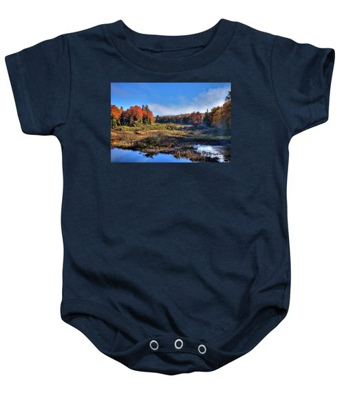 Baby Onesie featuring the photograph Patches Of Fog At The Green Bridge by David Patterson