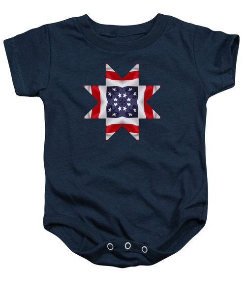 Patriotic Star 2 - Transparent Background Baby Onesie
