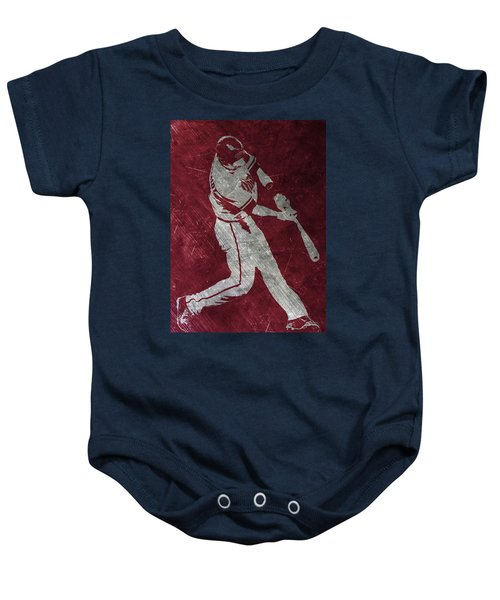 Paul Goldschmidt Arizona Diamondbacks Art Baby Onesie by Joe Hamilton