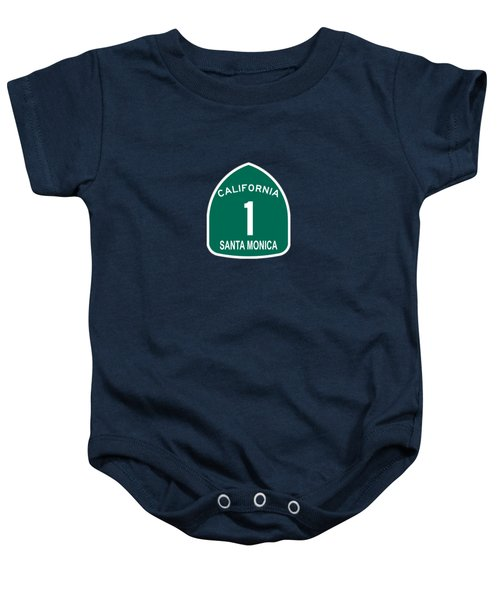 Pch 1 Santa Monica Baby Onesie by Brian's T-shirts