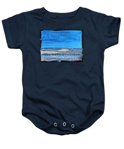 Baby Onesie featuring the painting Peau De Mer by Marc Philippe Joly