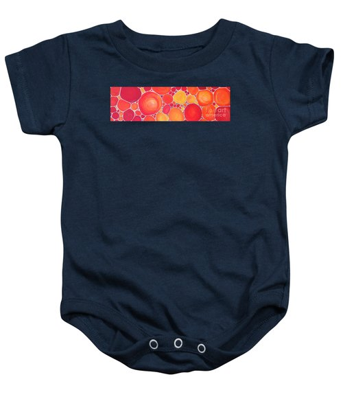 Pebbles At Sunset  Baby Onesie