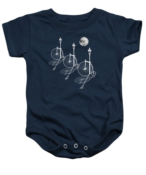 Penny Farthings Moonlight And Shadows Baby Onesie