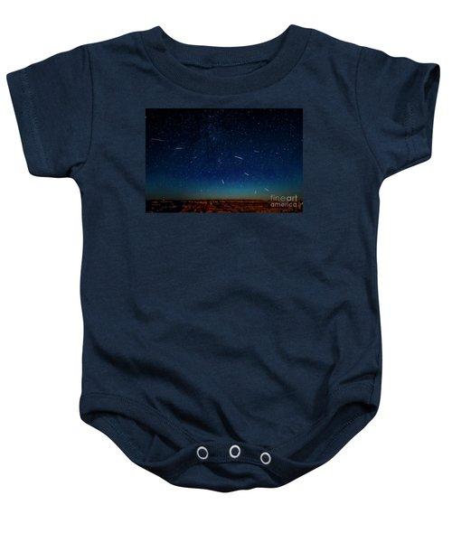 Perseid Meteor Shower Baby Onesie