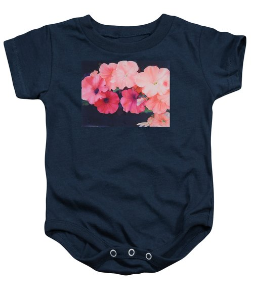 Petunias Baby Onesie