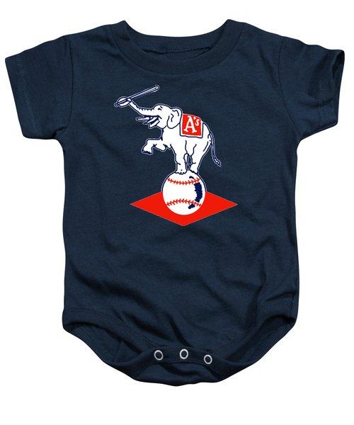 Philadelphia Athletics Retro Logo Baby Onesie