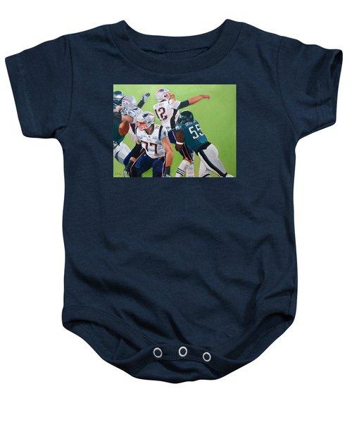 Philadelphia Eagles Strip-sack Of Tom Brady In Super Bowl Lii  Baby Onesie