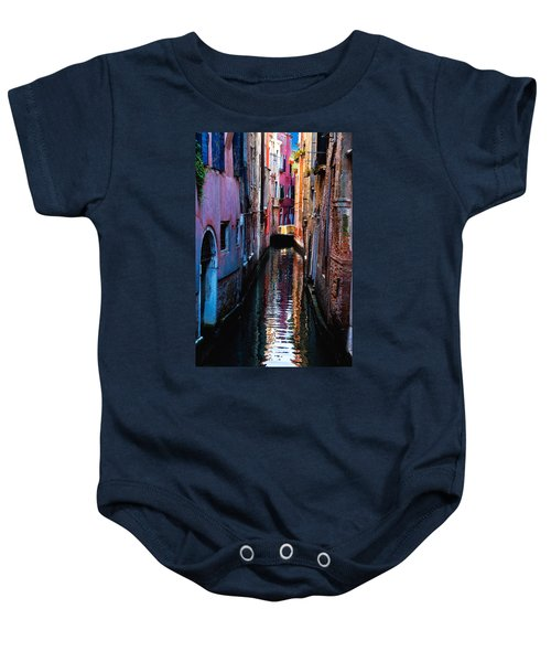 Pink Canal Baby Onesie