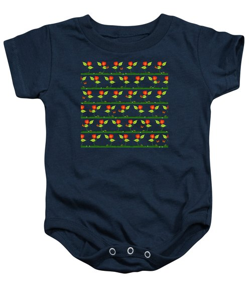 Plants And Flowers Baby Onesie