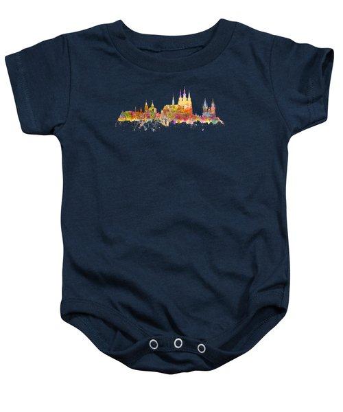 Prague Landmarks Baby Onesie