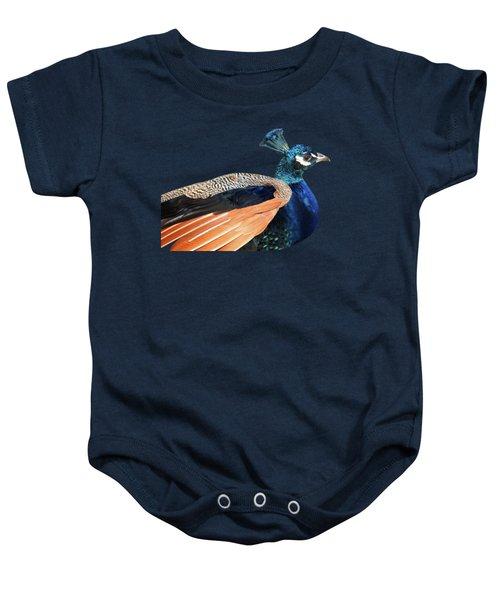 Proud Peacock Baby Onesie by Gill Billington