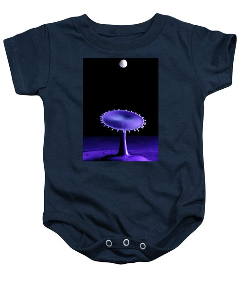 Purple Drop Baby Onesie