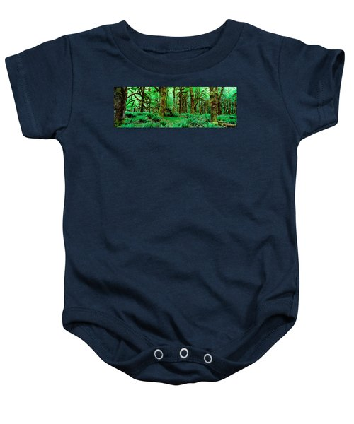 Rain Forest, Olympic National Park Baby Onesie by Panoramic Images