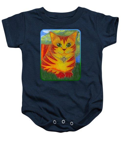 Rajah Golden Sun Cat Baby Onesie