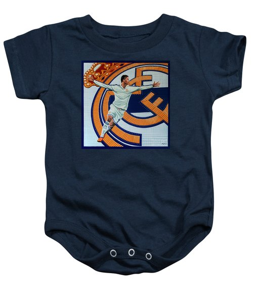 Real Madrid Painting Baby Onesie by Paul Meijering