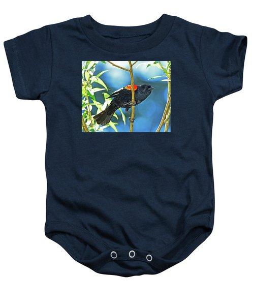Redwing Blackbird Baby Onesie