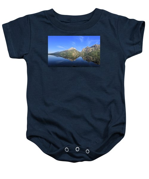 Reflection At Grand Teton National Park Baby Onesie