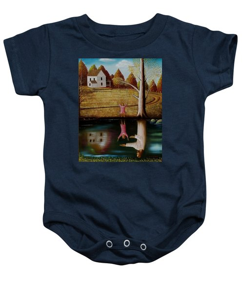 Reflection Of Protection. Baby Onesie