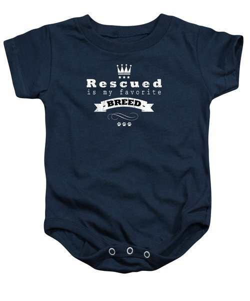 Rescued Crown Light Baby Onesie