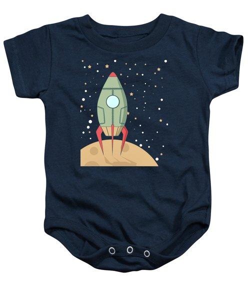 Retro Spaceship Baby Onesie by Krokoneil