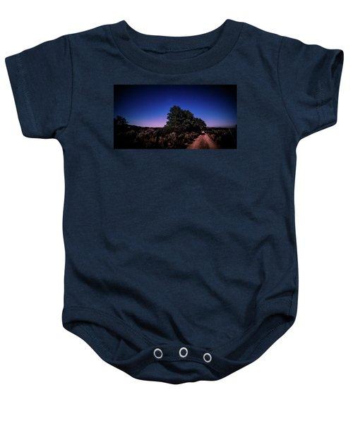 Rural Starlit Road Baby Onesie