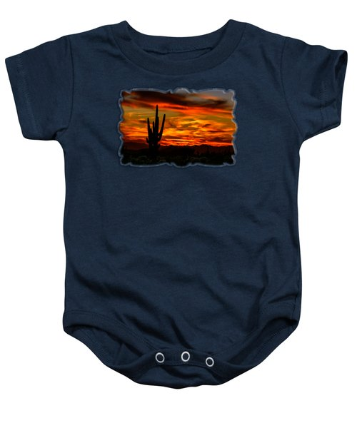 Saguaro Sunset H51 Baby Onesie by Mark Myhaver
