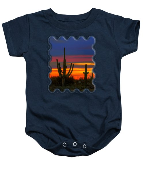 Saguaro Sunset V30 Baby Onesie by Mark Myhaver