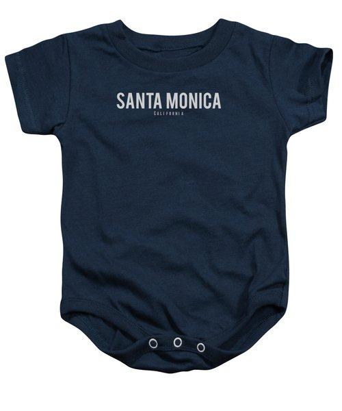 Santa Monica California Baby Onesie