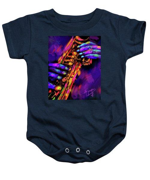 Saxy Hands Baby Onesie