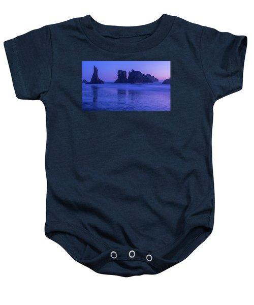 Seastack Sunset In Bandon Baby Onesie