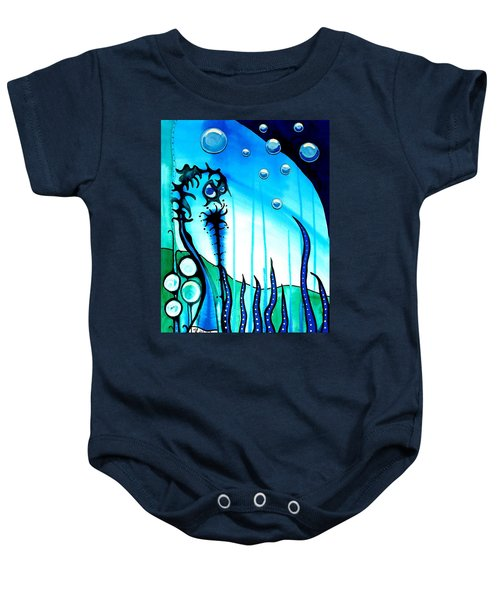 Baby Onesie featuring the painting Seaweed - Art By Dora Hathazi Mendes by Dora Hathazi Mendes