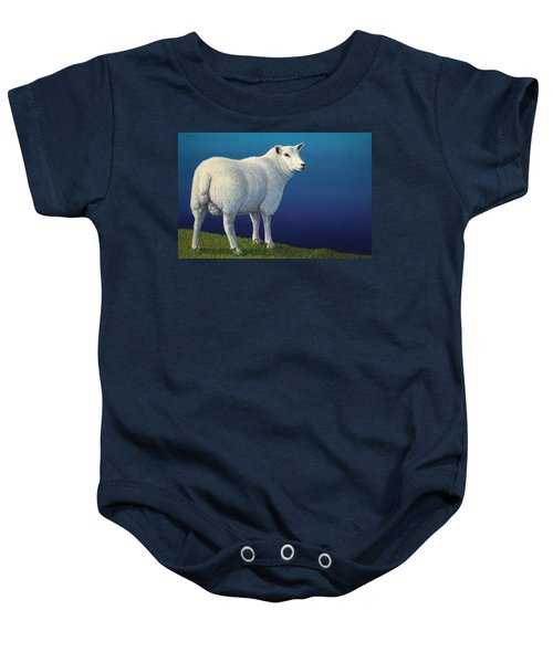 Sheep At The Edge Baby Onesie