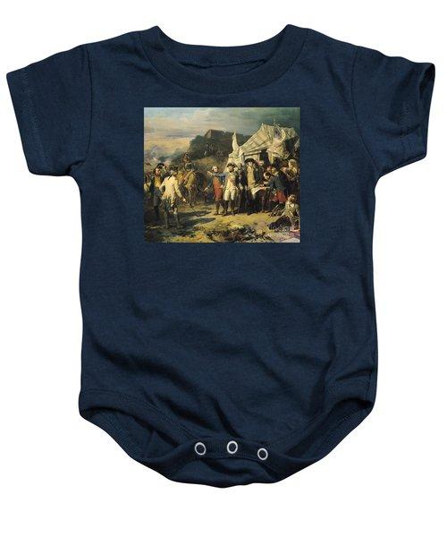 Siege Of Yorktown Baby Onesie by Louis Charles Auguste  Couder