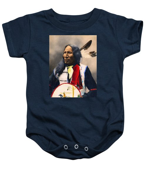 Sioux Chief Portrait Baby Onesie