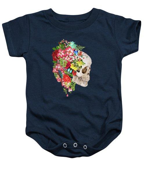 Skull Floral 2 Baby Onesie