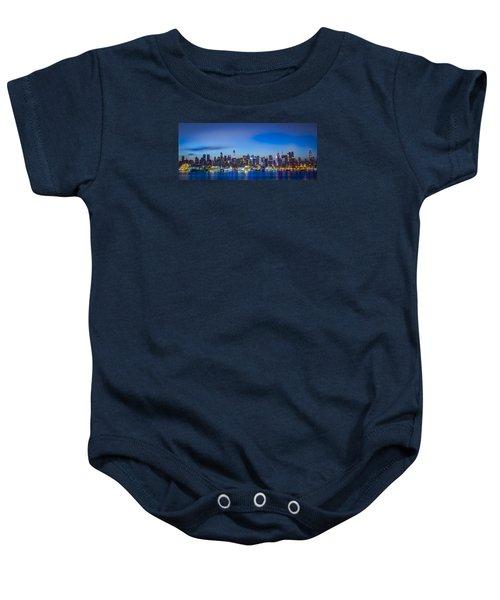 Skyline Nyc Before Sunrise Baby Onesie
