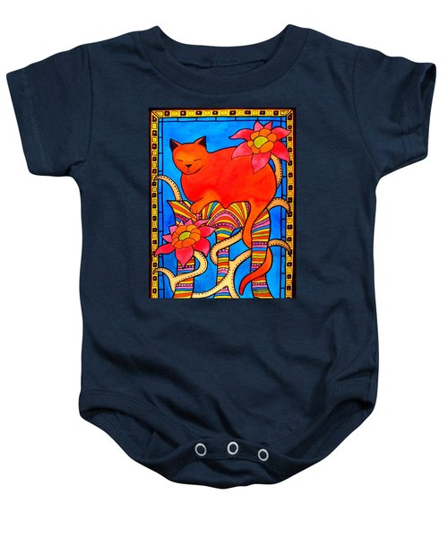 Baby Onesie featuring the painting Sleeping Beauty By Dora Hathazi Mendes by Dora Hathazi Mendes
