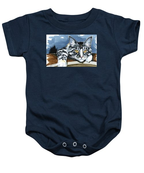 Smilla - Maine Coon Cat Painting Baby Onesie