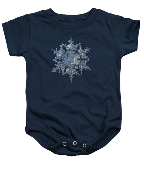 Snowflake Photo - Crystal Of Chaos And Order Baby Onesie