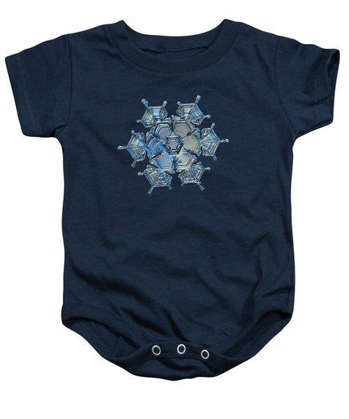 Snowflake Photo - Flying Castle Alternate Baby Onesie