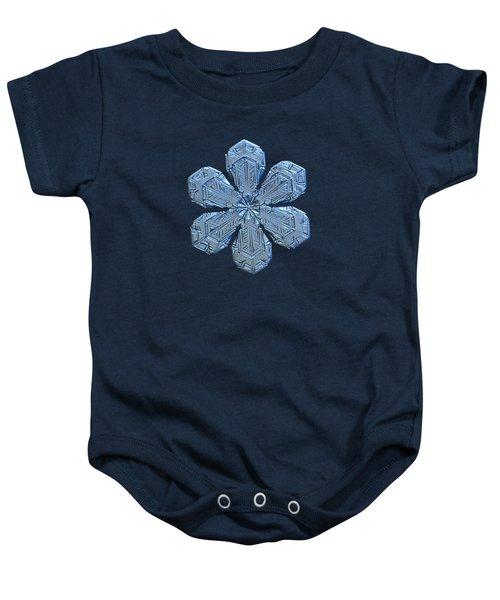 Snowflake Photo - Forget-me-not Baby Onesie