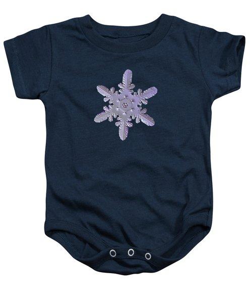 Snowflake Photo - Heart-powered Star Baby Onesie