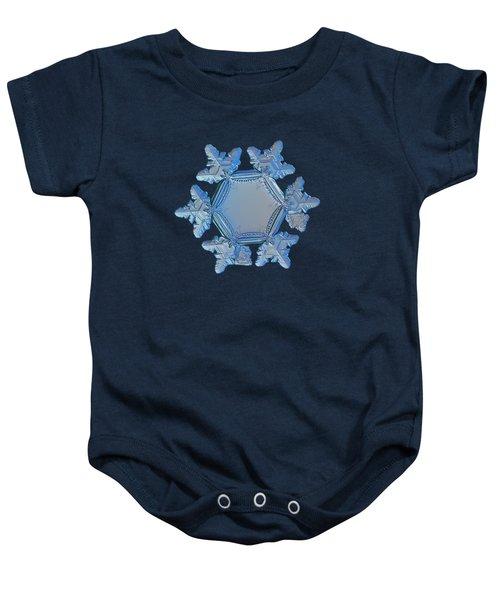 Snowflake Photo - Sunflower Baby Onesie