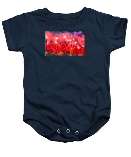 Soccer Fans Pictures Baby Onesie