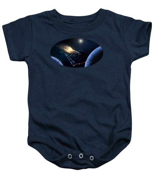 Space Battle I Baby Onesie by Carlos M R Alves