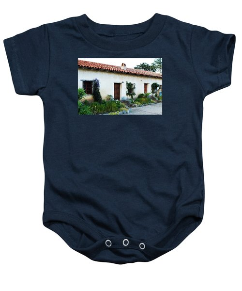 Baby Onesie featuring the photograph Spanish Mission Architecture by Renee Hong