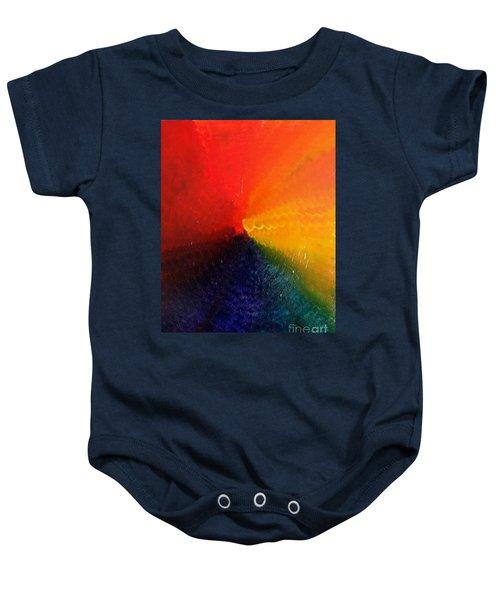 Spectral Spiral  Baby Onesie
