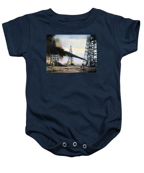 Spindletop Oil Pool, C1906 Baby Onesie