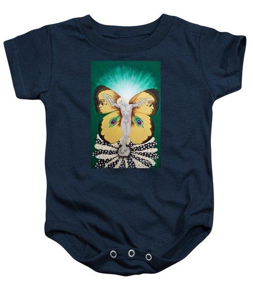 Blaa Kattproduksjoner             Spirit Of Aurelias Flight Baby Onesie